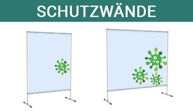 Schutzstellwand virenschutz pvc